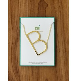 Gold Sideways Monogram Nk B