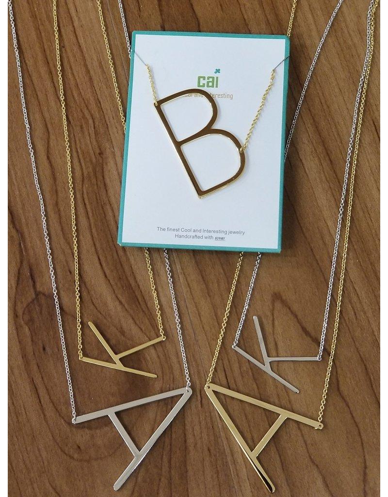 Gold Sideways Monogram Nk B