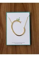 Gold Sideways Monogram Nk C