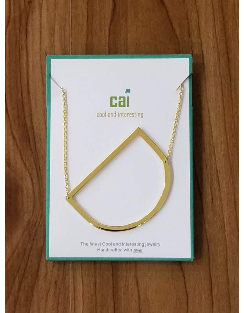 Gold Sideways Monogram Nk D