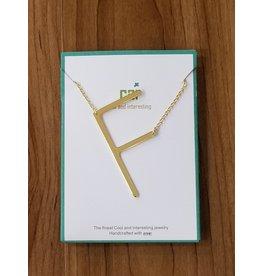 Gold Sideways Monogram Nk F