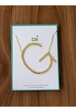 Gold Sideways Monogram Nk G