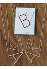 Gold Sideways Monogram Nk H