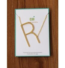 Gold Sideways Monogram Nk R