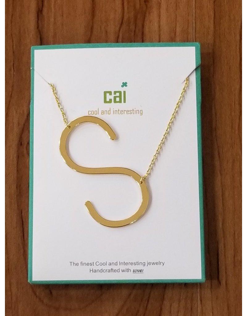 Gold Sideways Monogram Nk S