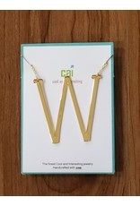 Gold Sideways Monogram Nk W