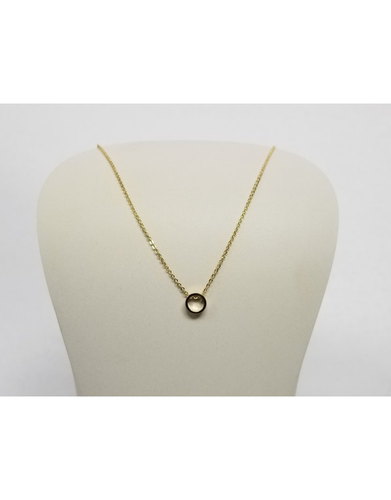 Rebecca Circle Necklace Gold