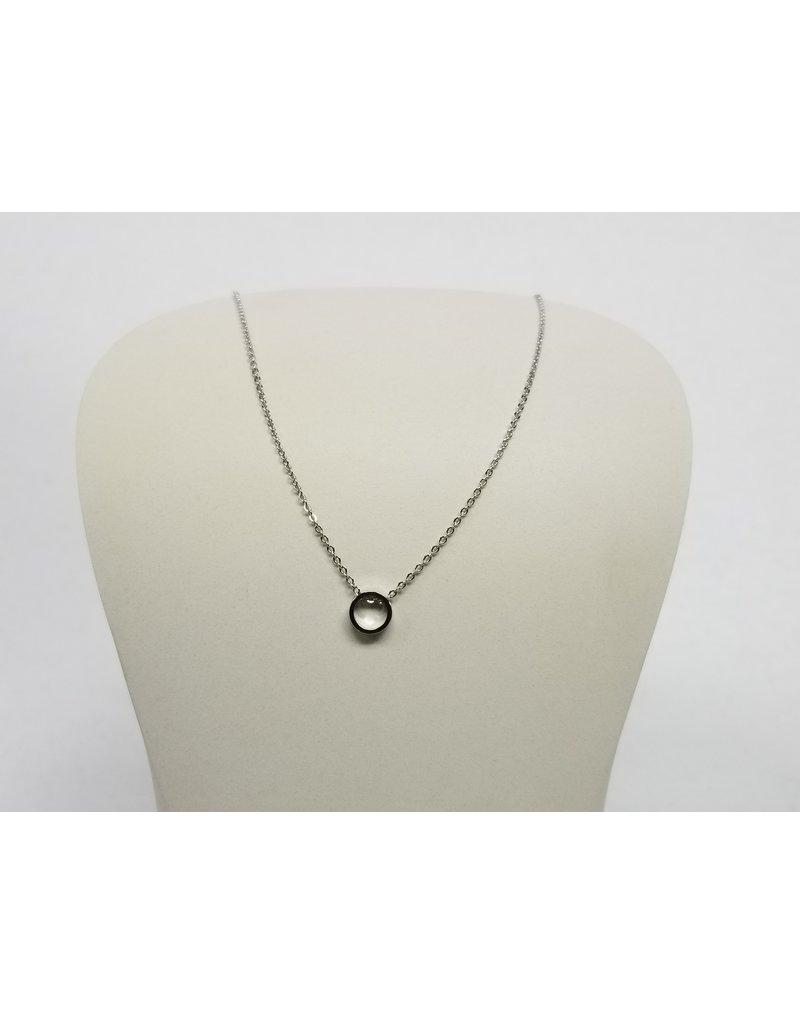 Rebecca Circle Necklace Silver