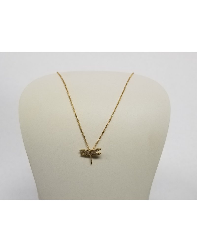 Rebecca Dragonfly Necklace Gold
