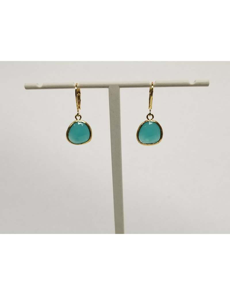 Rebecca Gold Lvrbk Ear Turquoise