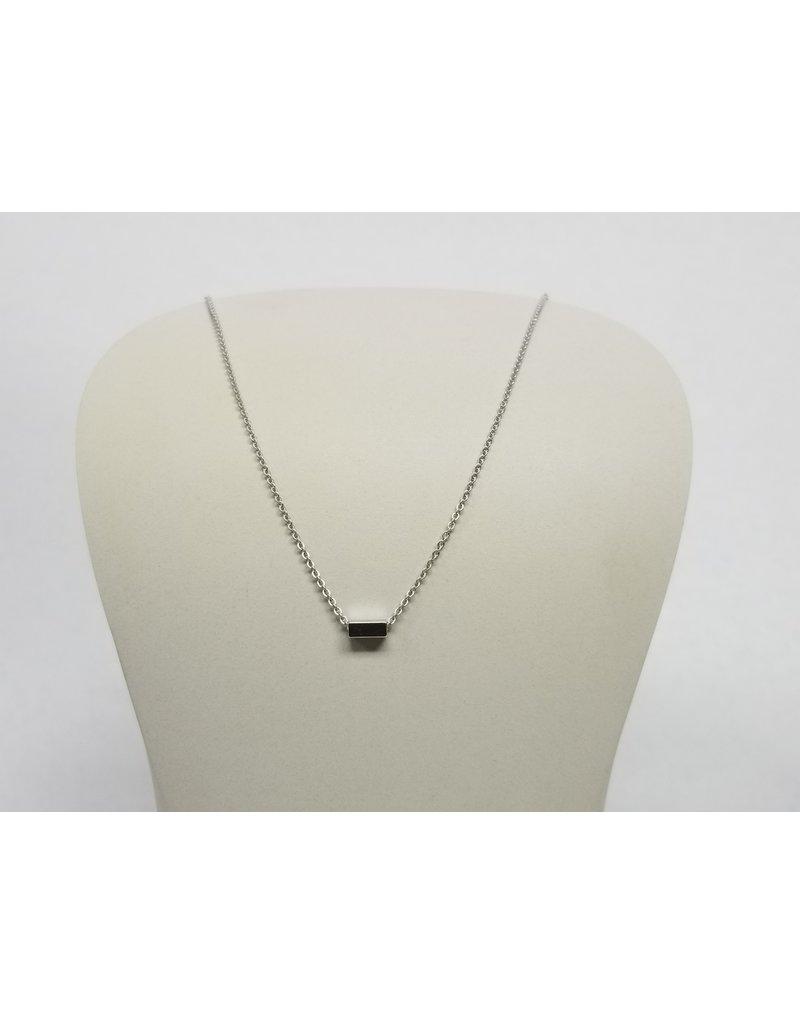 Rebecca Mini Bar Necklace Silver