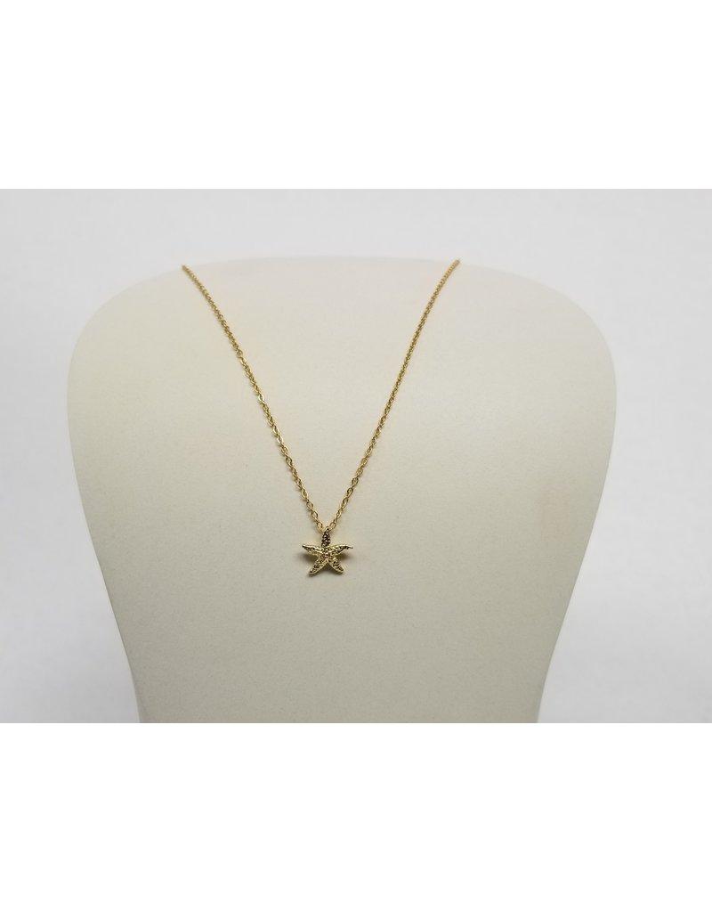 Rebecca Starfish Necklace Gold