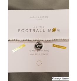 Football Mom Silver Bracelet