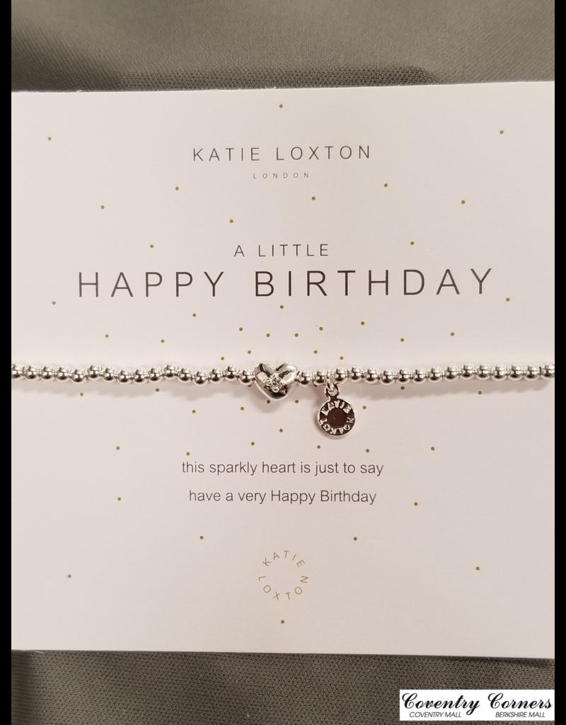 Happy Birthday Silver Bracelet