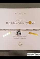 Baseball Mom Silver Bracelet