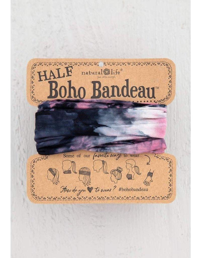 Half Boho Bandeau Tie Dye Black Rose