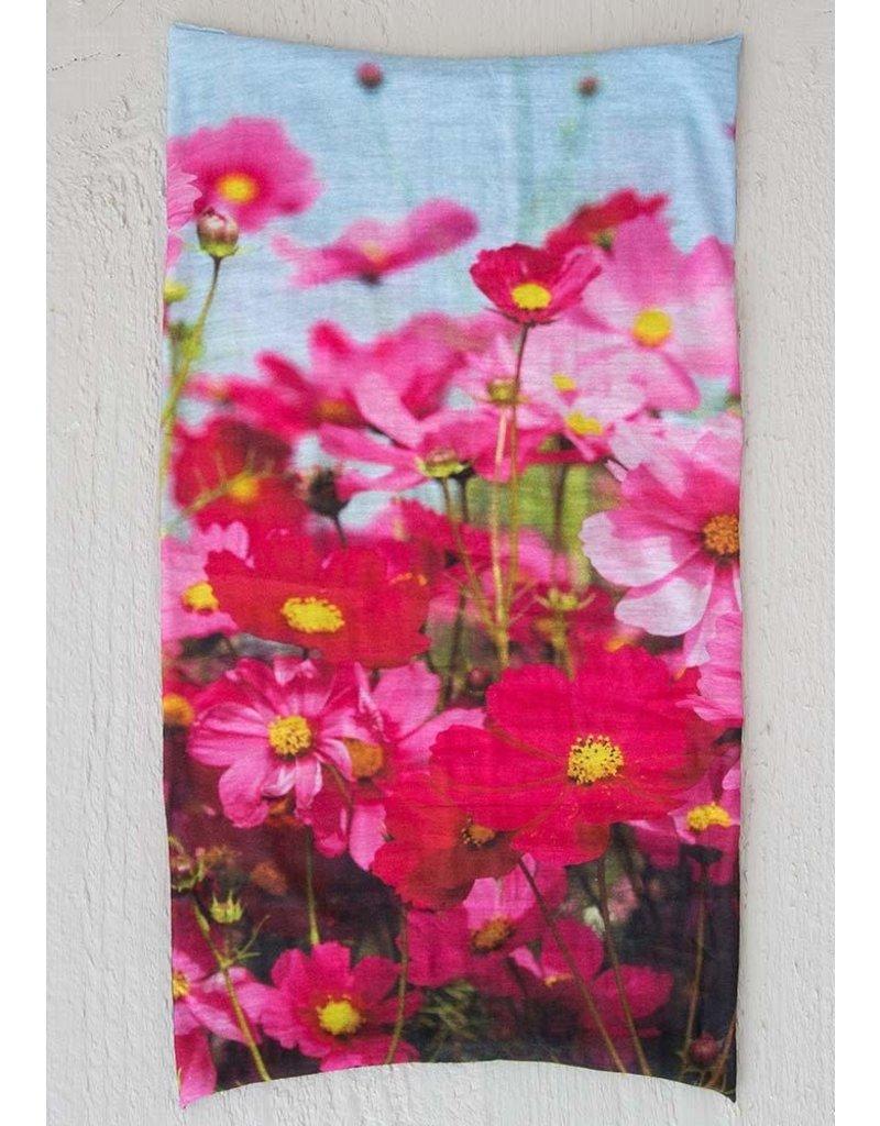 Boho Bandeau Pink Floral Sky