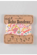 Half Bandeau Cream Pink Goemoetric