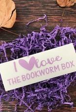 I Love The Bookworm Box Window Decal