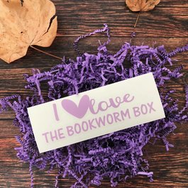 I Love The Bookworm Box Window Decal