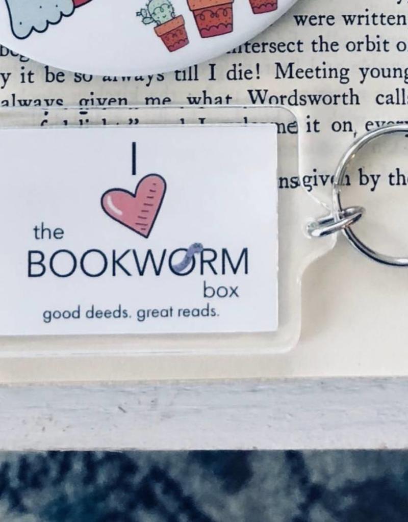 I Love The Bookworm Box  Keychain