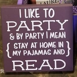 I Like to Party Purple Wood Sign