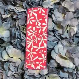 Italic Bookmark Pink and White Flowers