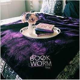 The Bookworm Box Blanket - Book Bonanza PICKUP ONLY