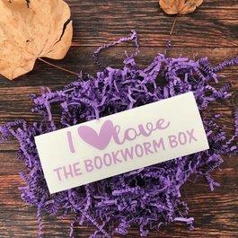 I Love The Bookworm Box Window Decal - Book Bonanza PICKUP ONLY