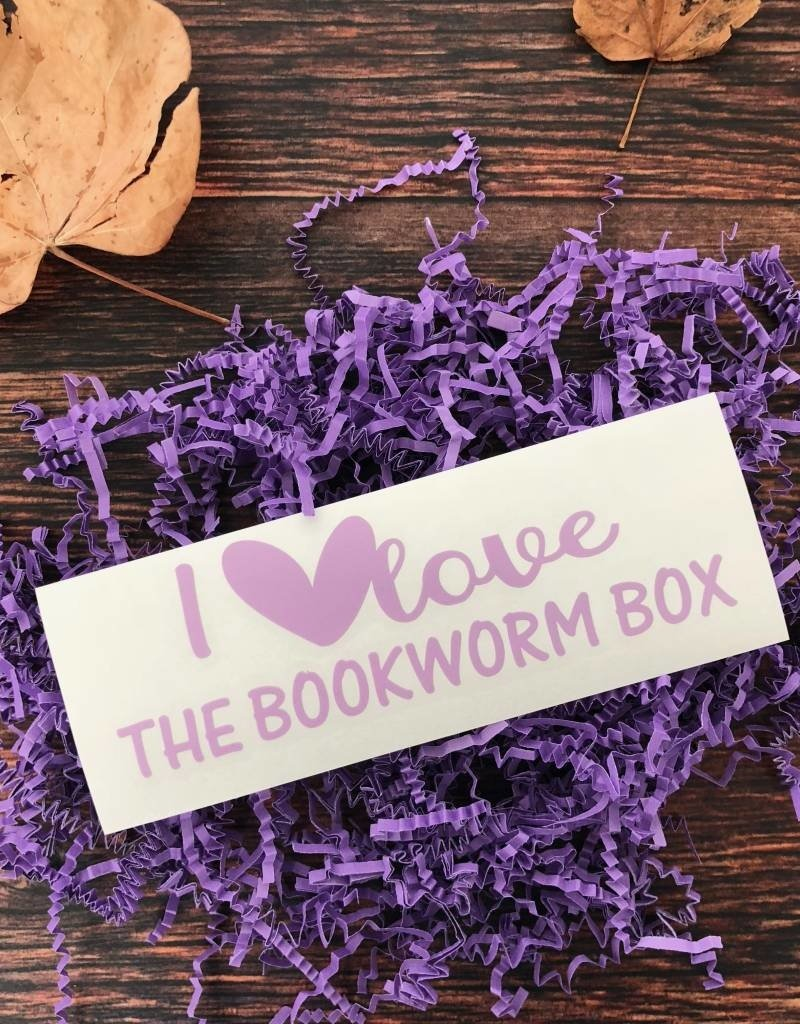 I Love The Bookworm Box Window Decal - Book Bonanza PICKUP ONLY