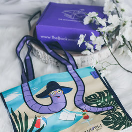 The Bookworm Box Beach Tote Bag