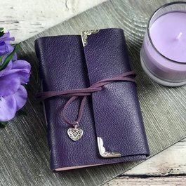 Purple Leather Journal by Wordstoremember