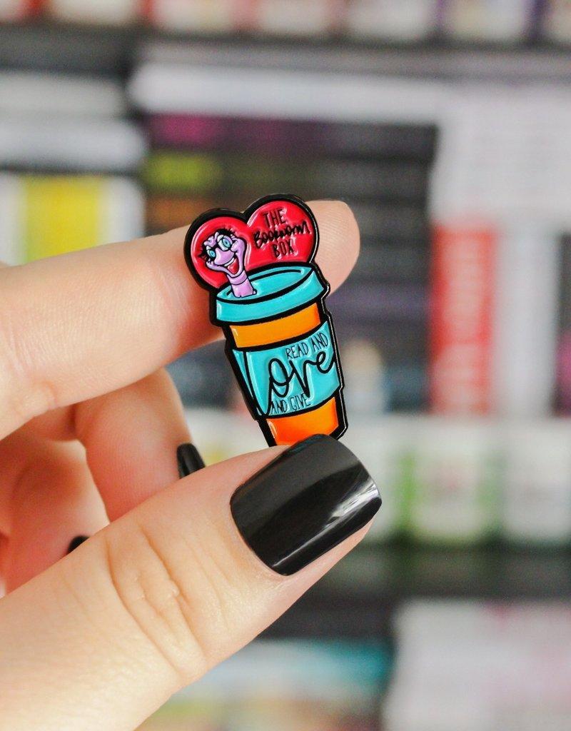The Bookworm Box Enamel Pin
