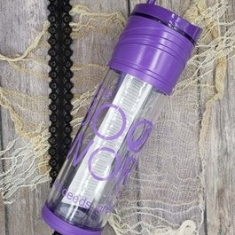The Bookworm Box Tumbler Purple
