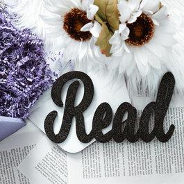 Read Glitter Sign