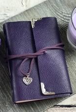 Purple Leather Journal by Wordstoremember