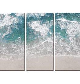 """Toile sable et vague SURFING AERIAL (Set de 3) 22"""" X 48"""""""