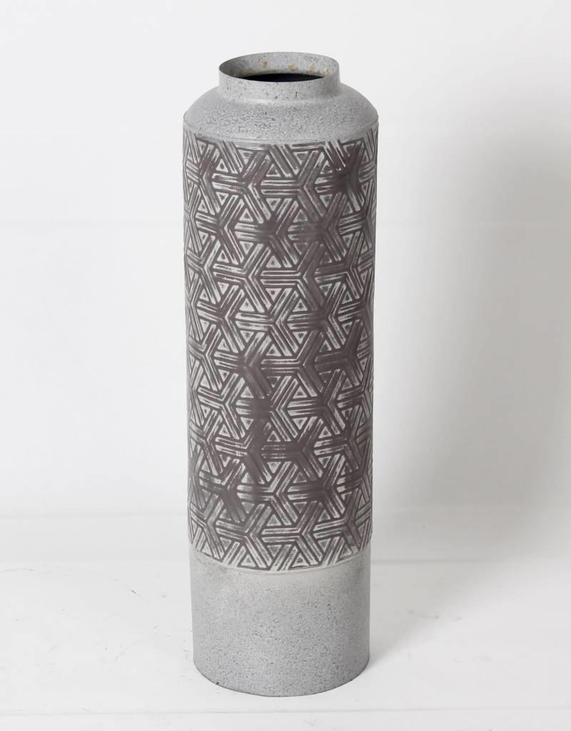 Vase métal CIAN GREY gris
