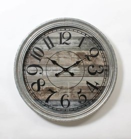 "Horloge 35"" Galvanisée"