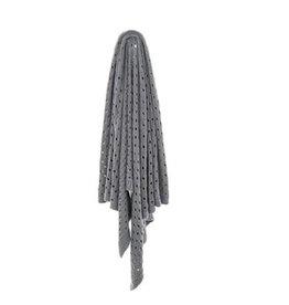 """Brunelli Jeté tricot coton gris 50"""" x 60"""""""