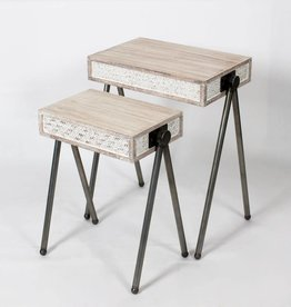 Table d'appoint Bois blanc grande