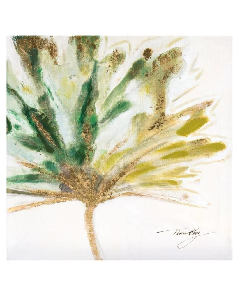 Toile Fleur Verte 12 X 12 Atelier Du Decor J M Inc