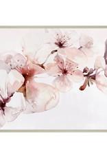"Toile fleurs roses aquarelle 30"" x 45"""