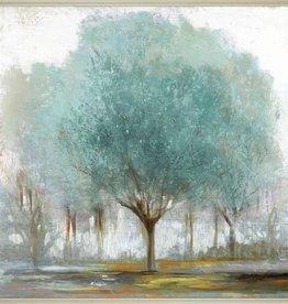 "Toile arbre turquoise 36"" x 36"""