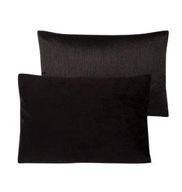 """Coussin velours noir 14"""" x 20"""""""