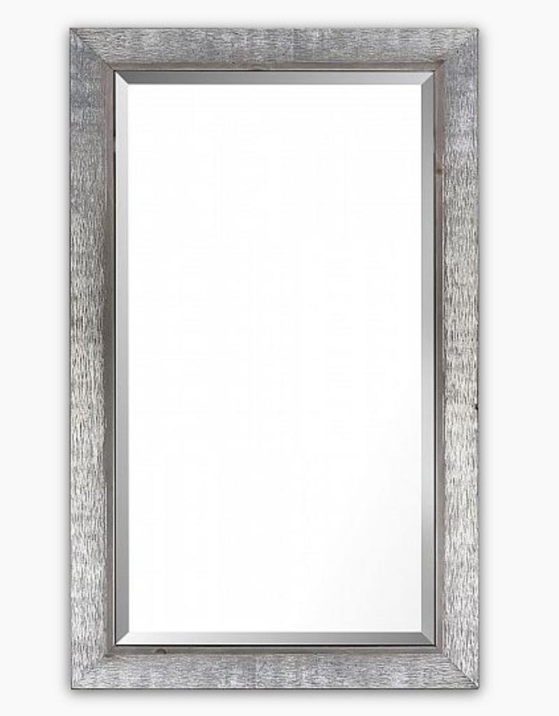 """Miroir Argent et Bois Gris 25"""" x 41"""""""
