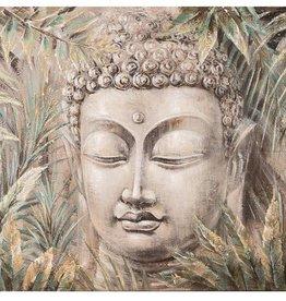 "Toile bouddha jungle 31"" x 39"""