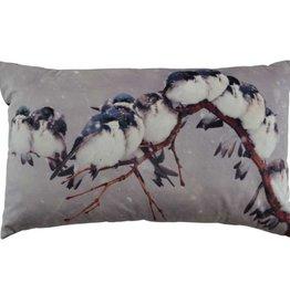 """Coussin oiseaux sur branche 12"""" x 20"""""""