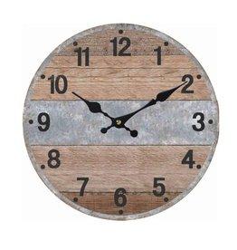 "Horloge étroite bande grise 16"""