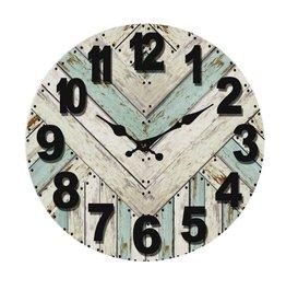 "Horloge chevrons bleus 13"""